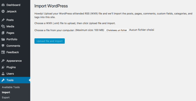 Export / Import Content | Move to Self-Hosted WordPress